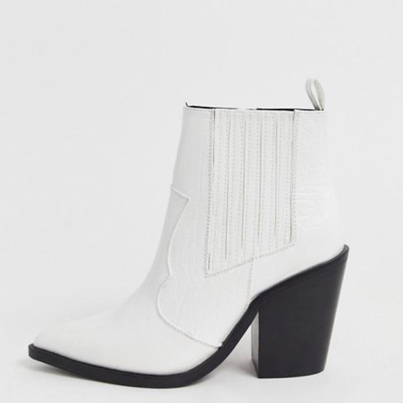 Nwot Asos Elliot Western Ankle Boots